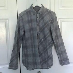DIESEL men's casual button down plaid check L $218